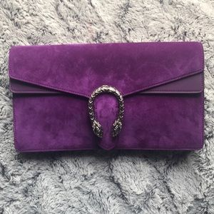 GUCCI DIONYSUS suede leather RARE XL clutch